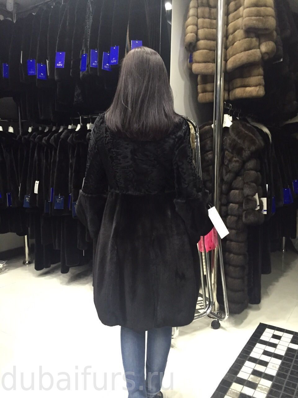 норка Black Glama Velour с каракульчей Swakara (2)