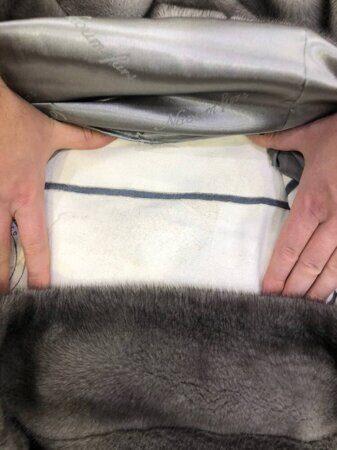 На фото – технология пошива шуб поперечным способом